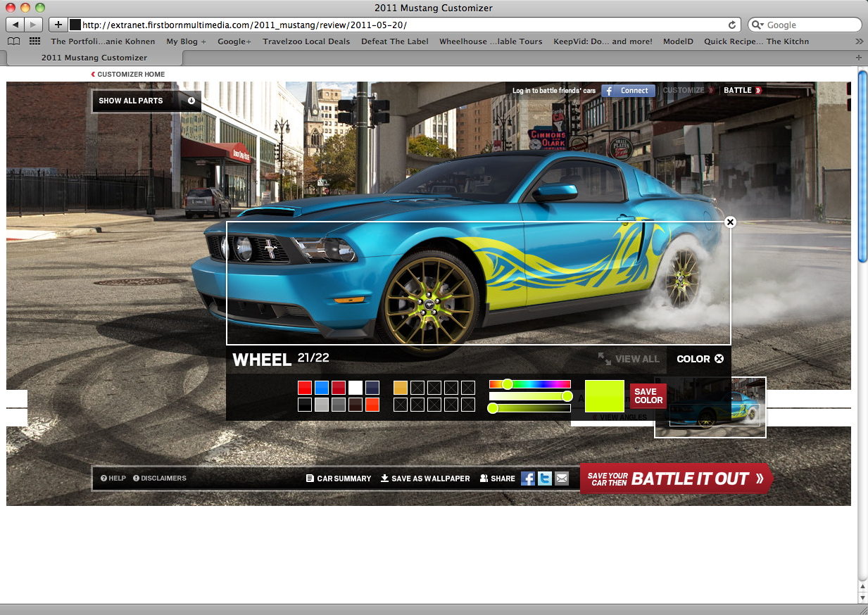 Ford Launches 2012 Mustang Customizer Website   Top Speed
