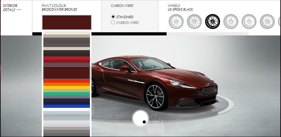 Aston Martin Vanquish Configurator Goes Live Pictures Photos Wallpapers Top Speed