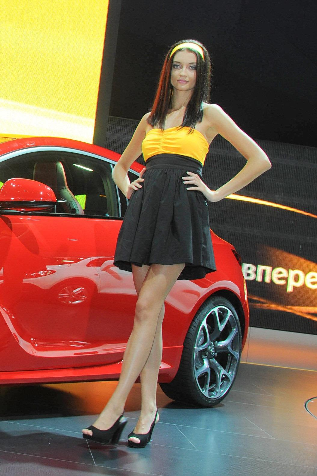 Sexy Girls At Moscow International Auto Salon 2012 Gallery
