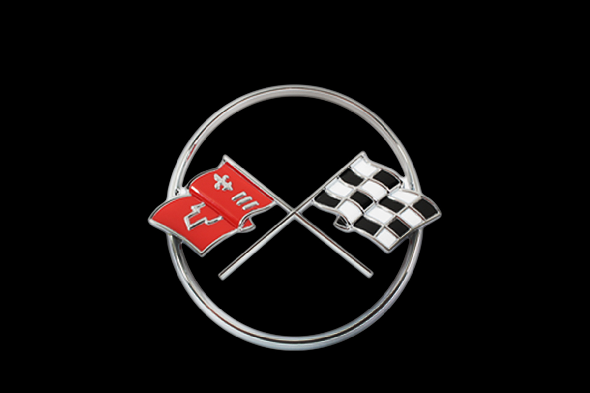 Evolution of the corvette and the crossed flags logo news top speed buycottarizona