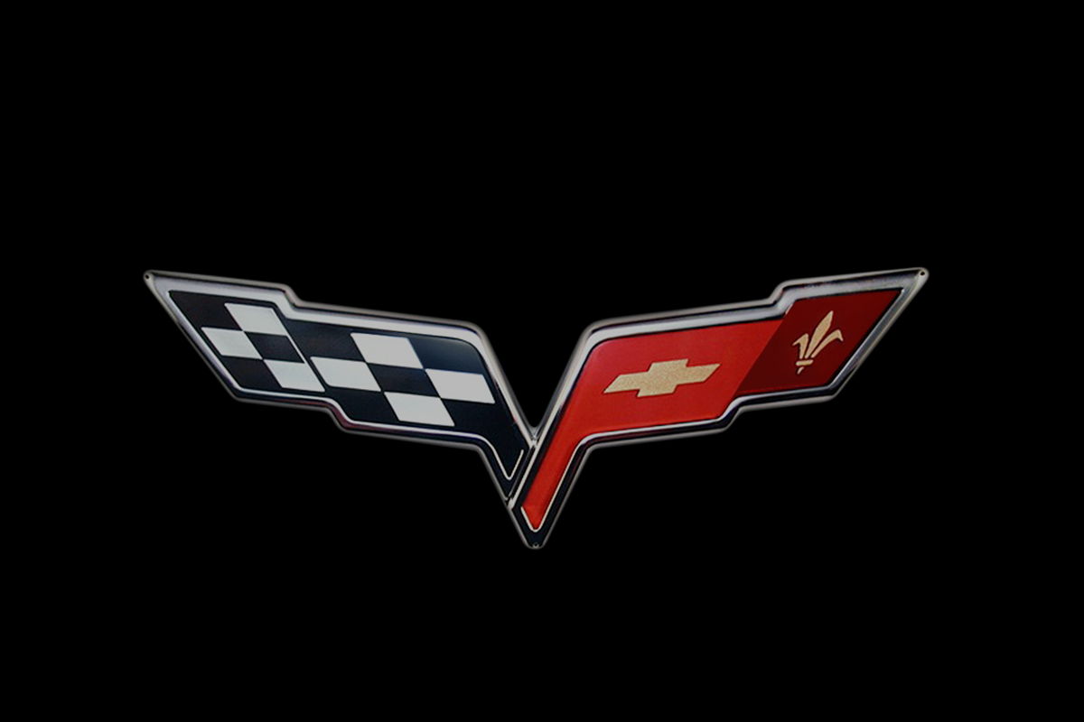 Evolution Of The Corvette And The Crossed Flags Logo | Top Speed