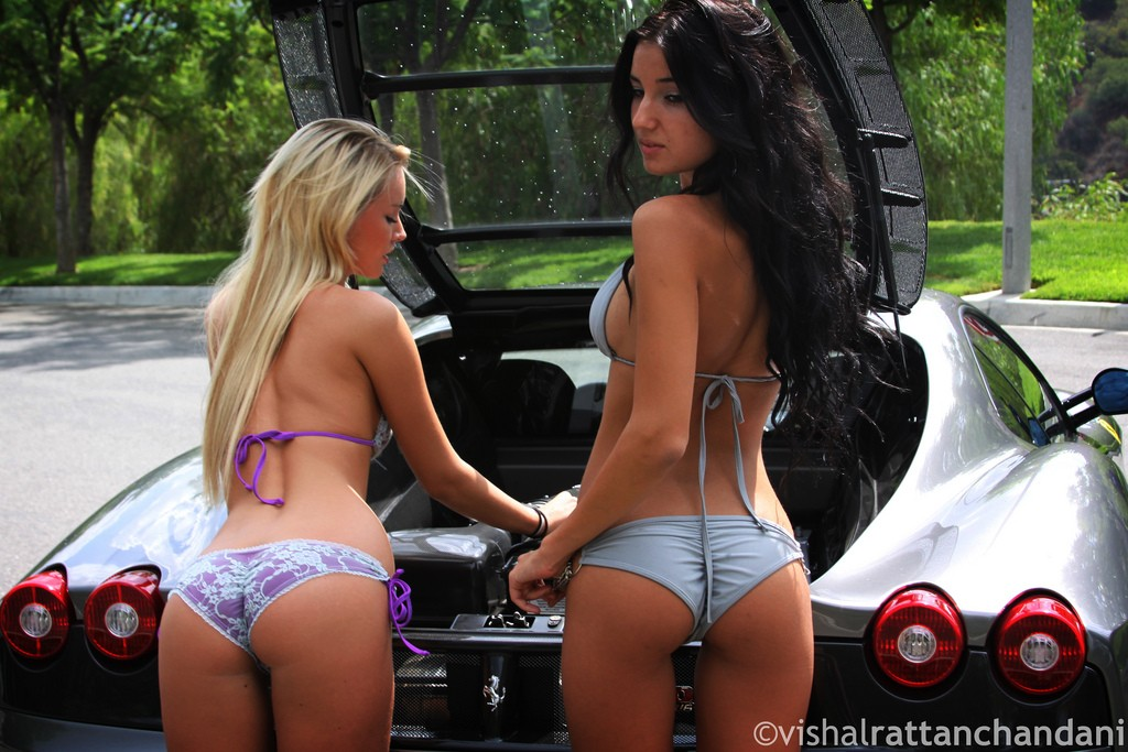 Our Carwash Dreams Come To Life With Two Babes Cleaning A