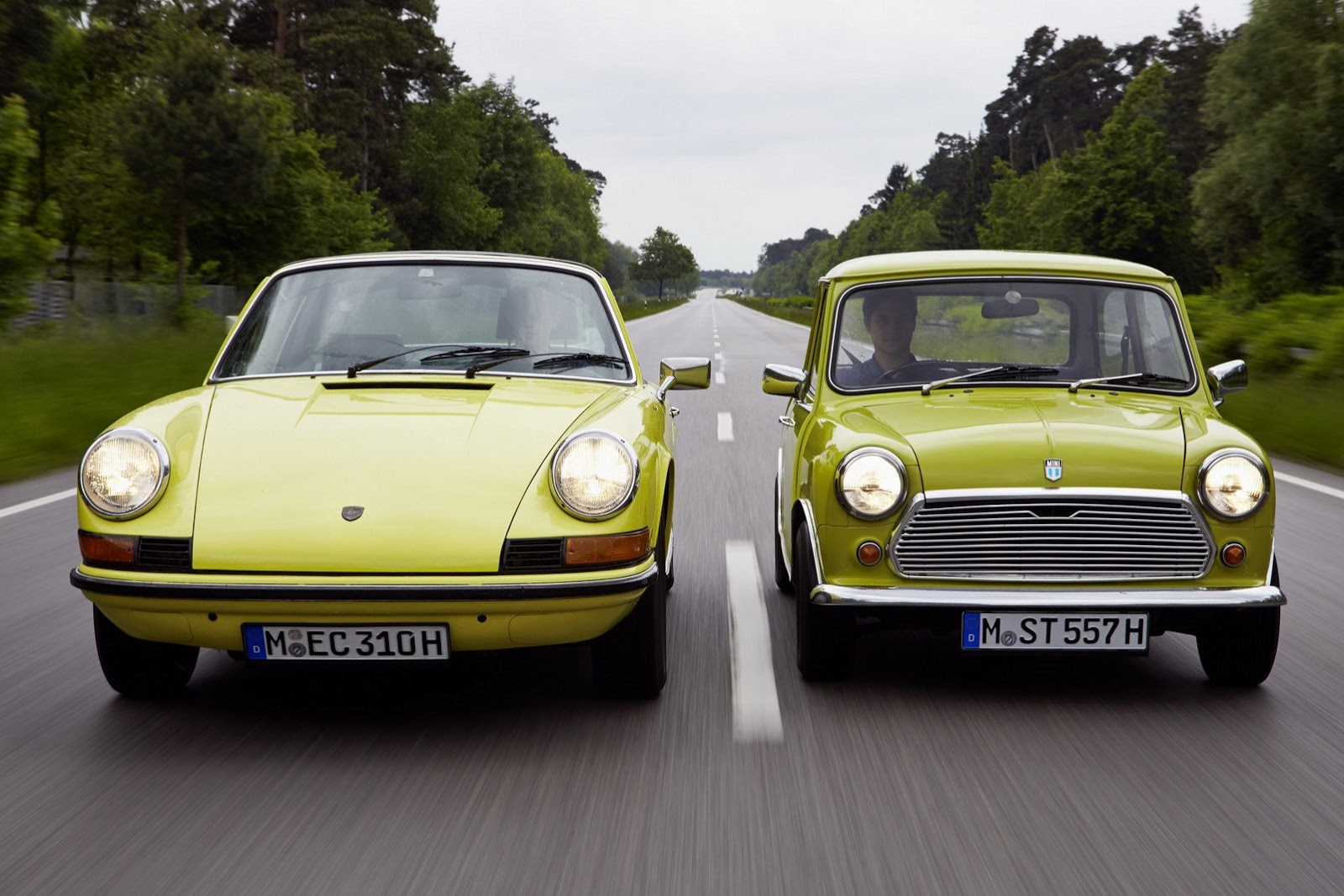 MINI Sends Birthday Wishes To Porscheu0027s 911 Sports Car With Awesome Photo  Shoot News   Top Speed. »