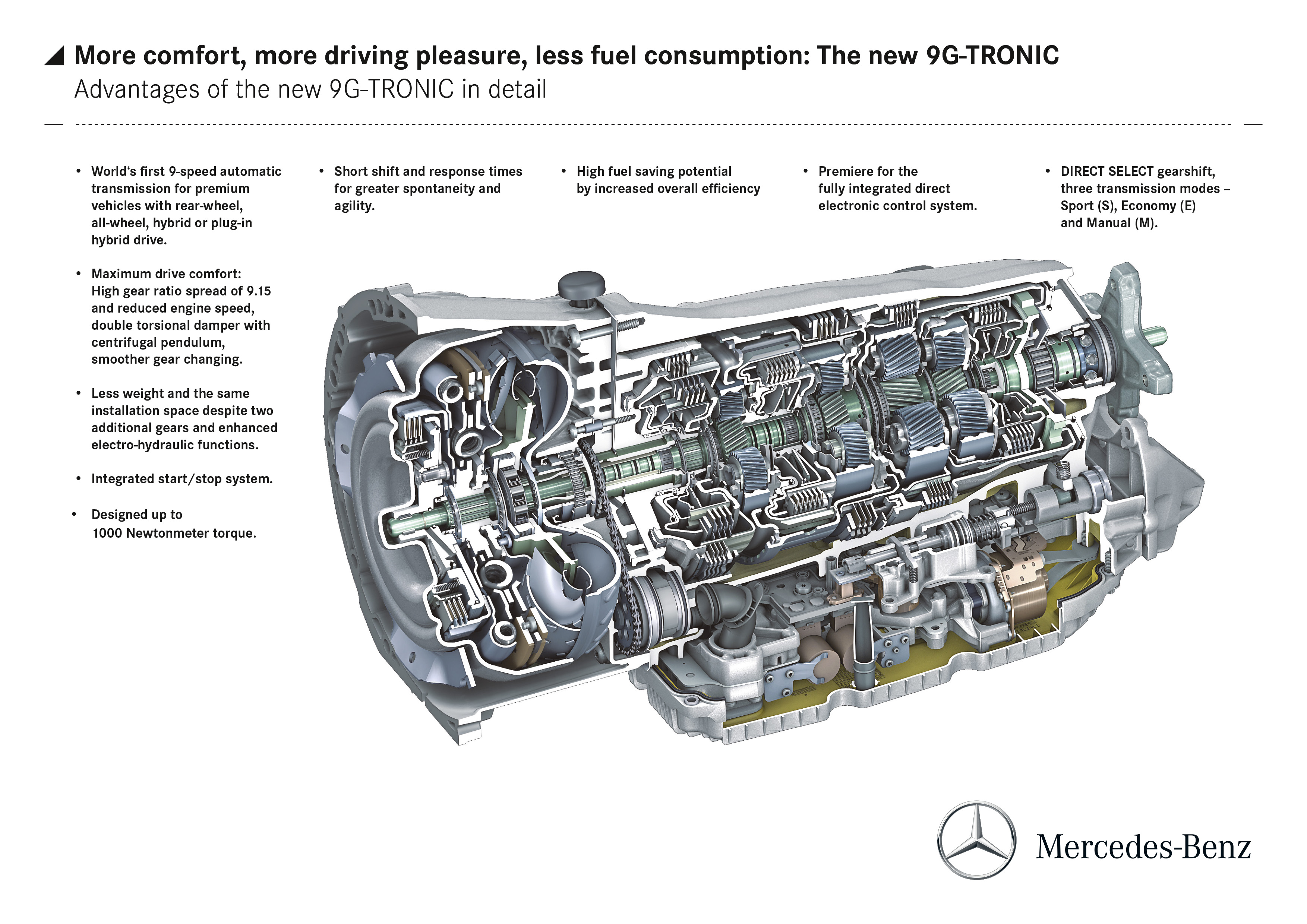 Mercedes Benz To Debut New Nine Speed Automatic Transmission Top Speed