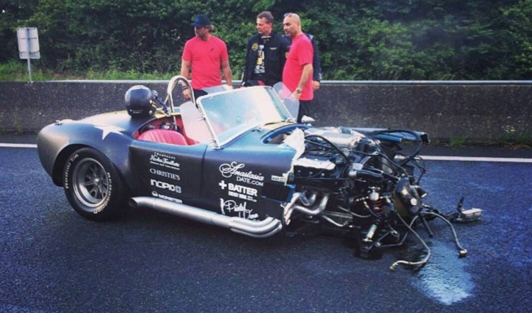 800 Horsepower Shelby Cobra Crashes During 2014 Gumball