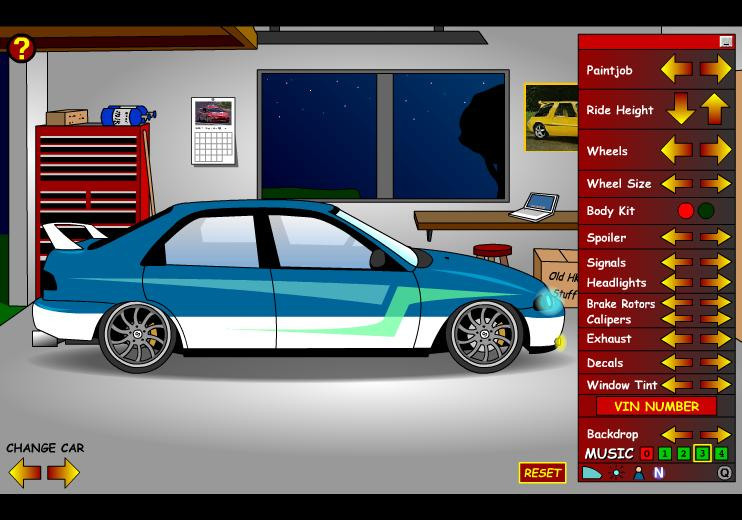 Customize Your Own Car Games Unblocked