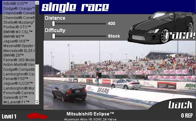 Drag Racer Game - Top Speed