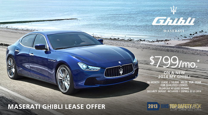 lease a 2014 maserati ghibli for 799 per month picture. Black Bedroom Furniture Sets. Home Design Ideas