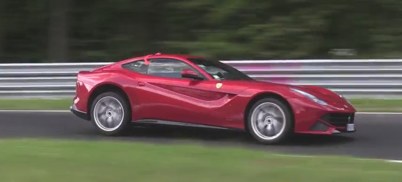 video ferrari f12 berlinetta unofficially laps nurburgring in 7 08 news top speed. Black Bedroom Furniture Sets. Home Design Ideas