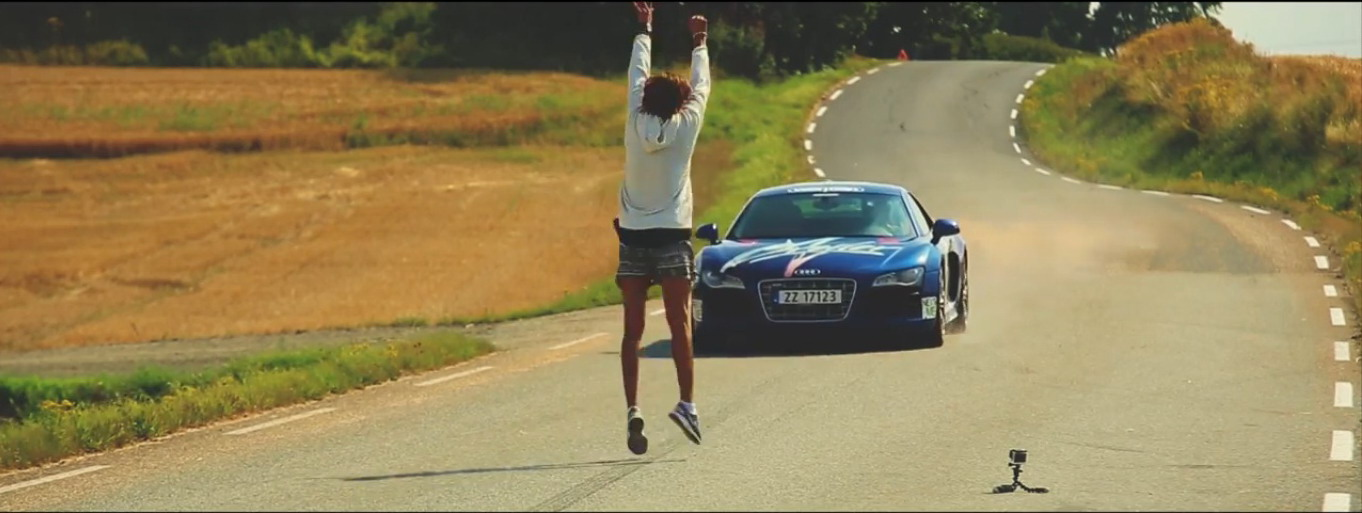 Kobe Jumping Over Car >> Video: Jumping Over An Audi R8 At 93 MPH News - Top Speed
