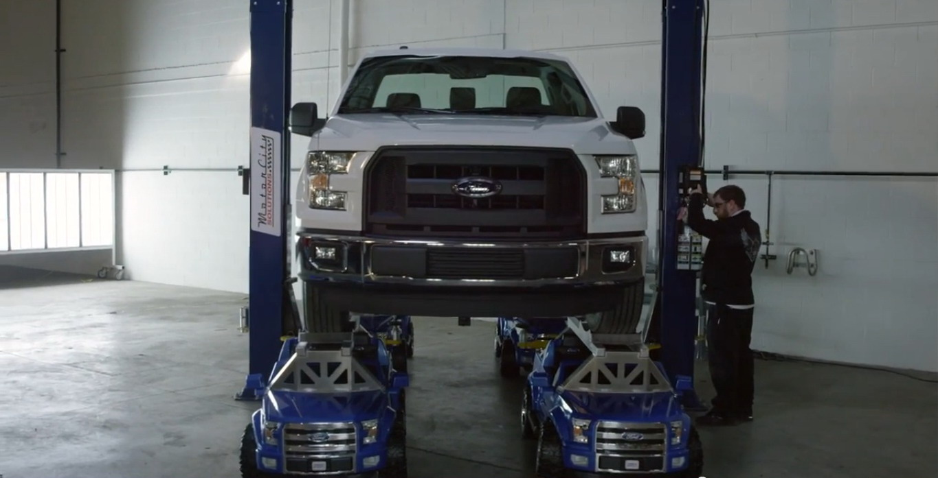 """36246de3f9dc0 ... """"Built Ford Tough"""" slogan appears to extend to anything with a Ford  badge slapped on it. The folks at Power Wheels decided to put their new F- 150-styled ..."""