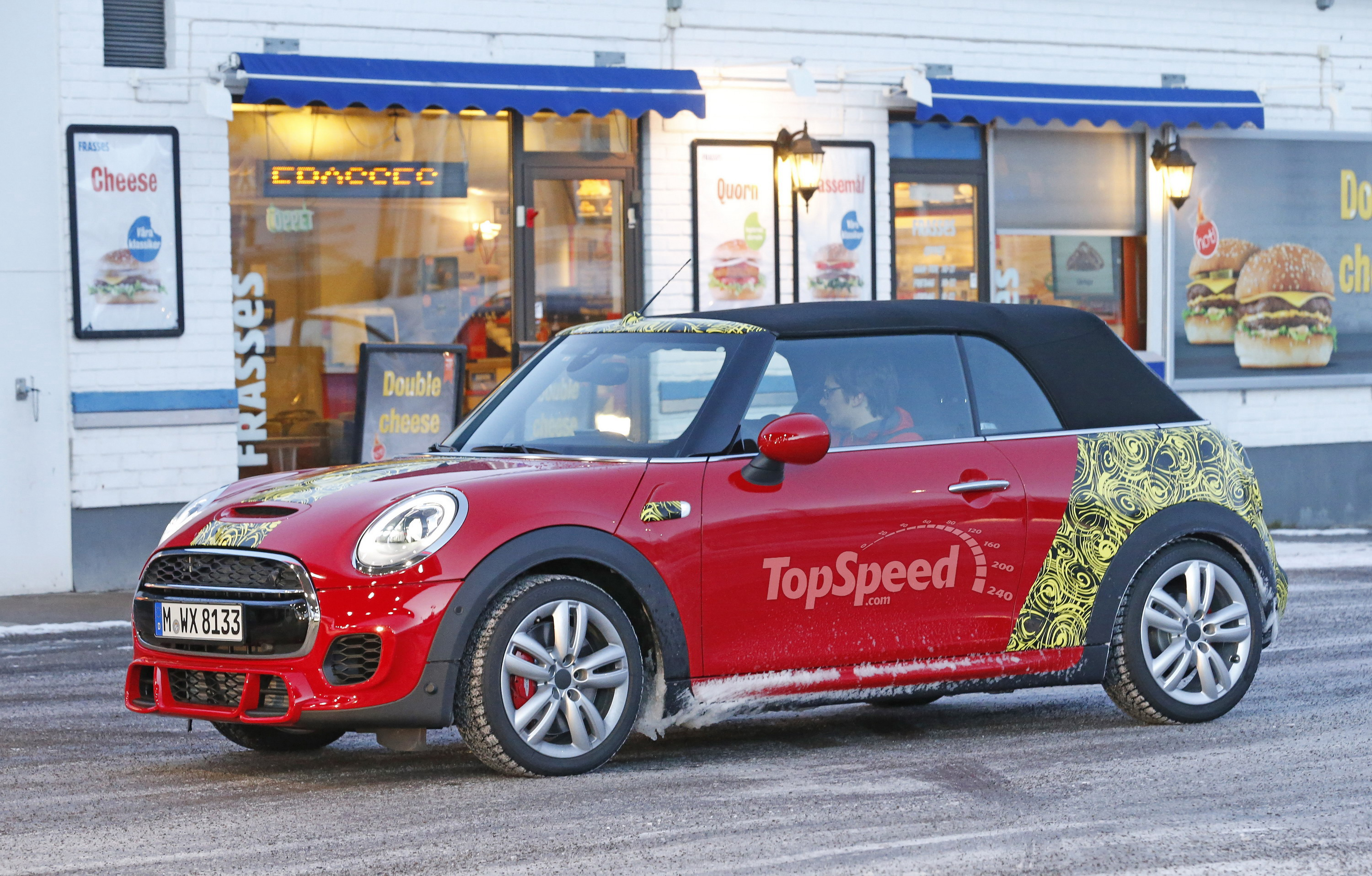 Mini Jcw Convertible Shows Some Skin Spy Shots Top Speed