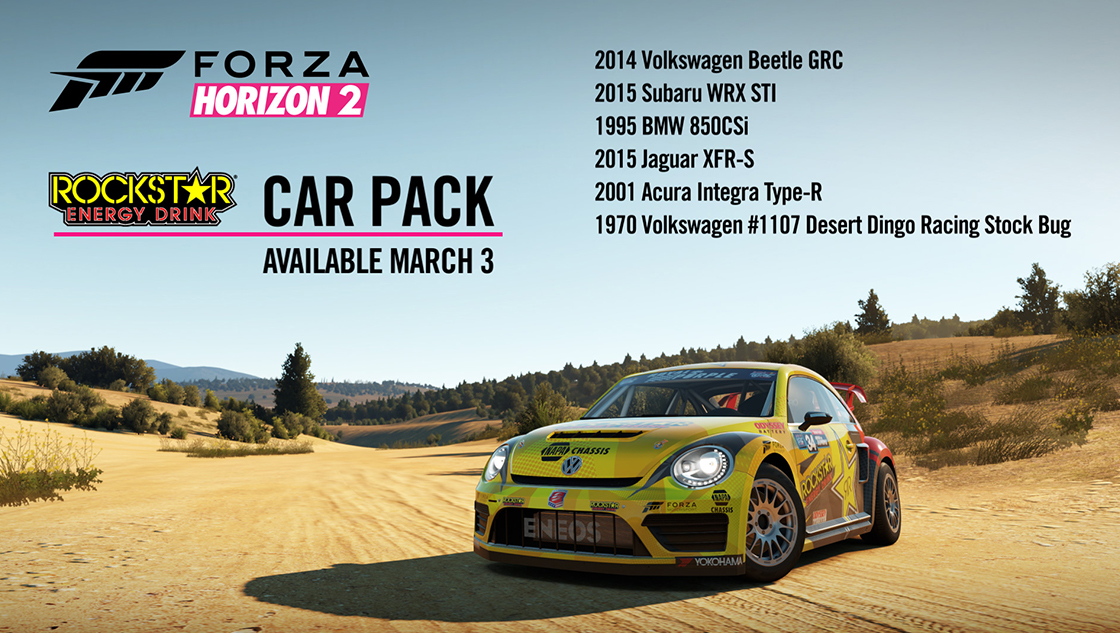 Forza Horizon 2 Gets Rockstar Energy Car Pack | Top Speed
