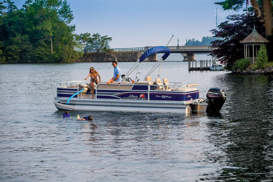 2015 sun tracker fishin barge 22 dlx picture 624179 for Fishing pontoon boat reviews