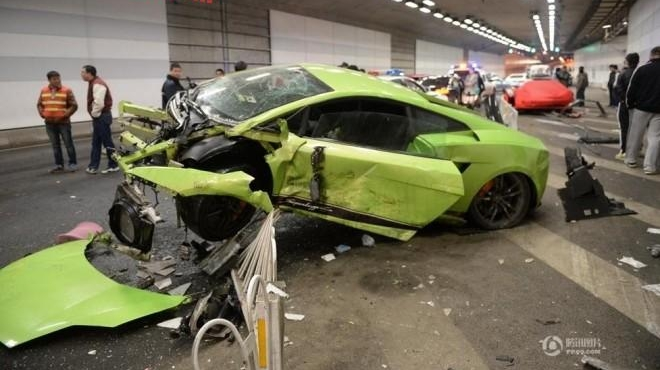 Ferrari 458 Spider And Lamborghini Gallardo Superleggera Destroyed