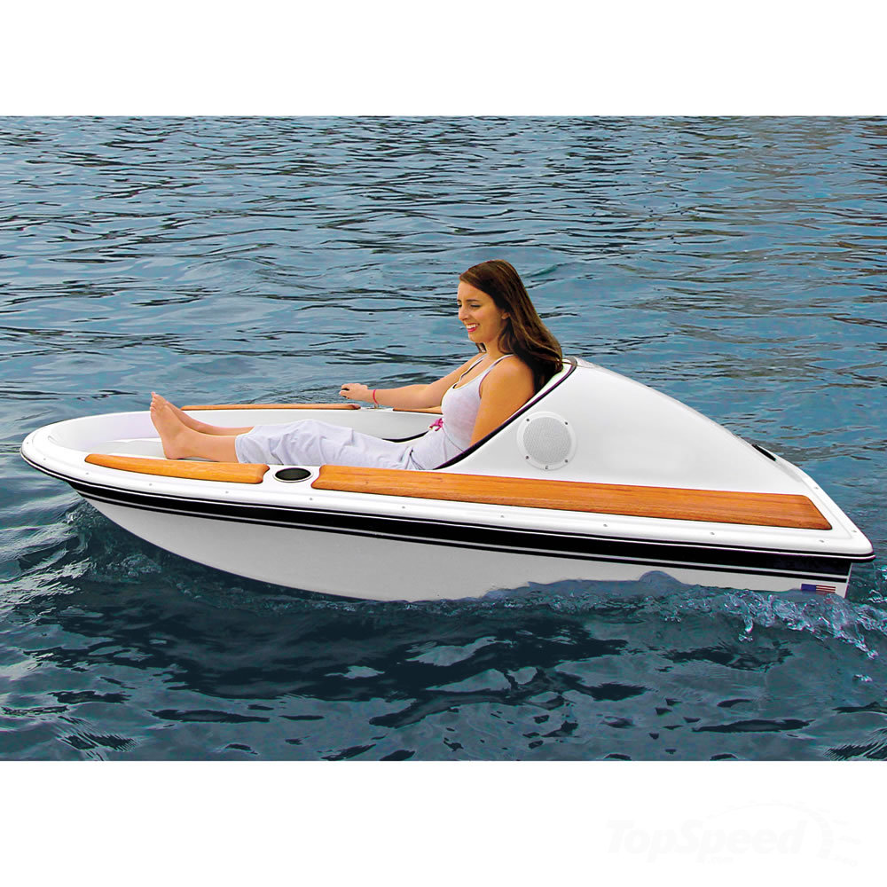Hammacher schlemmer redefines the one person electric for One man fishing boat