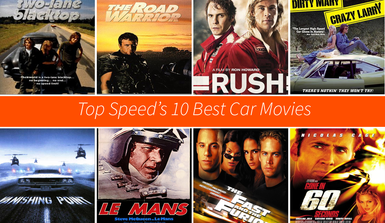 TopSpeed's 10 Best Car Movies | Top Speed