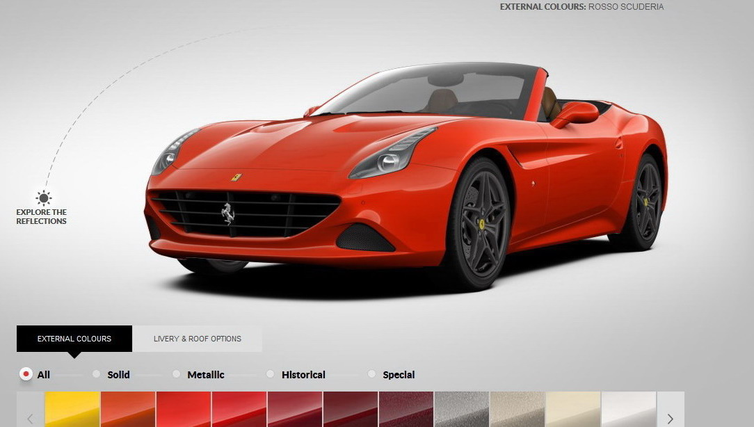 Ferrari California T >> Ferrari California T Configurator Updated With New Colors ...
