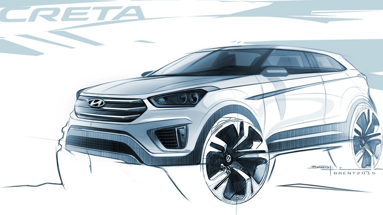 Hyundai Releases Sketches Of Future Creta Global Suv Pictures Photos Wallpapers Top Speed