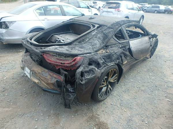 Fire Totaled Bmw I8 For Sale On Craigslist Top Speed