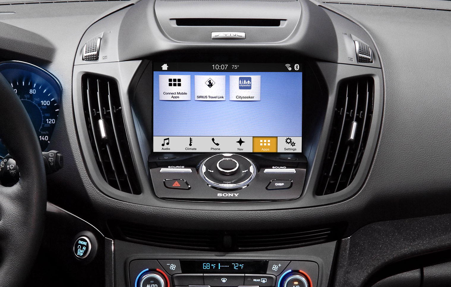 ford 39 s sync 3 infotainment system adds apple carplay and android auto new apps also in the mix. Black Bedroom Furniture Sets. Home Design Ideas