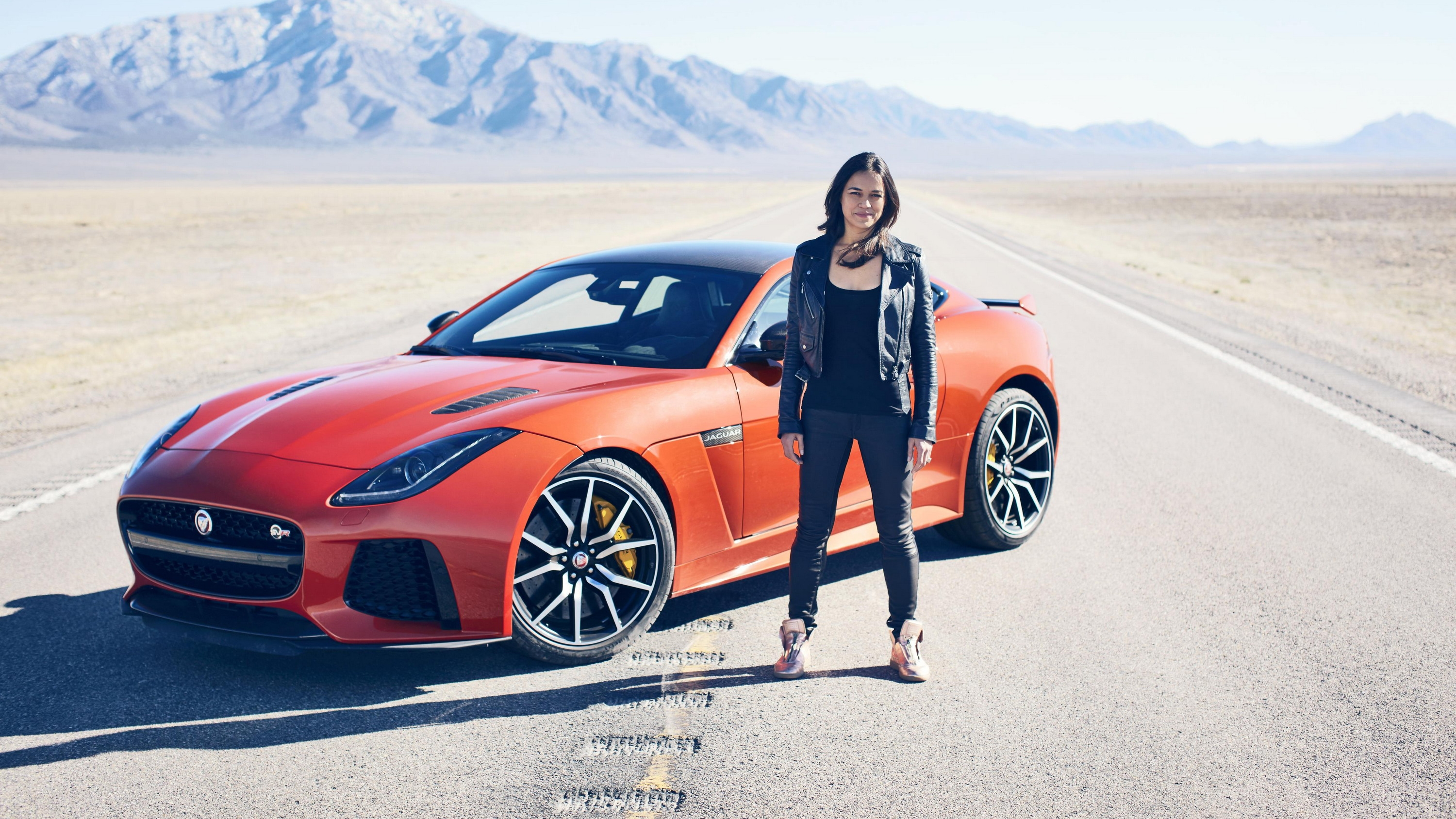 Top 10 Fastest Cars >> Michelle Rodriguez Goes Fast And Furious With The F-Type ...