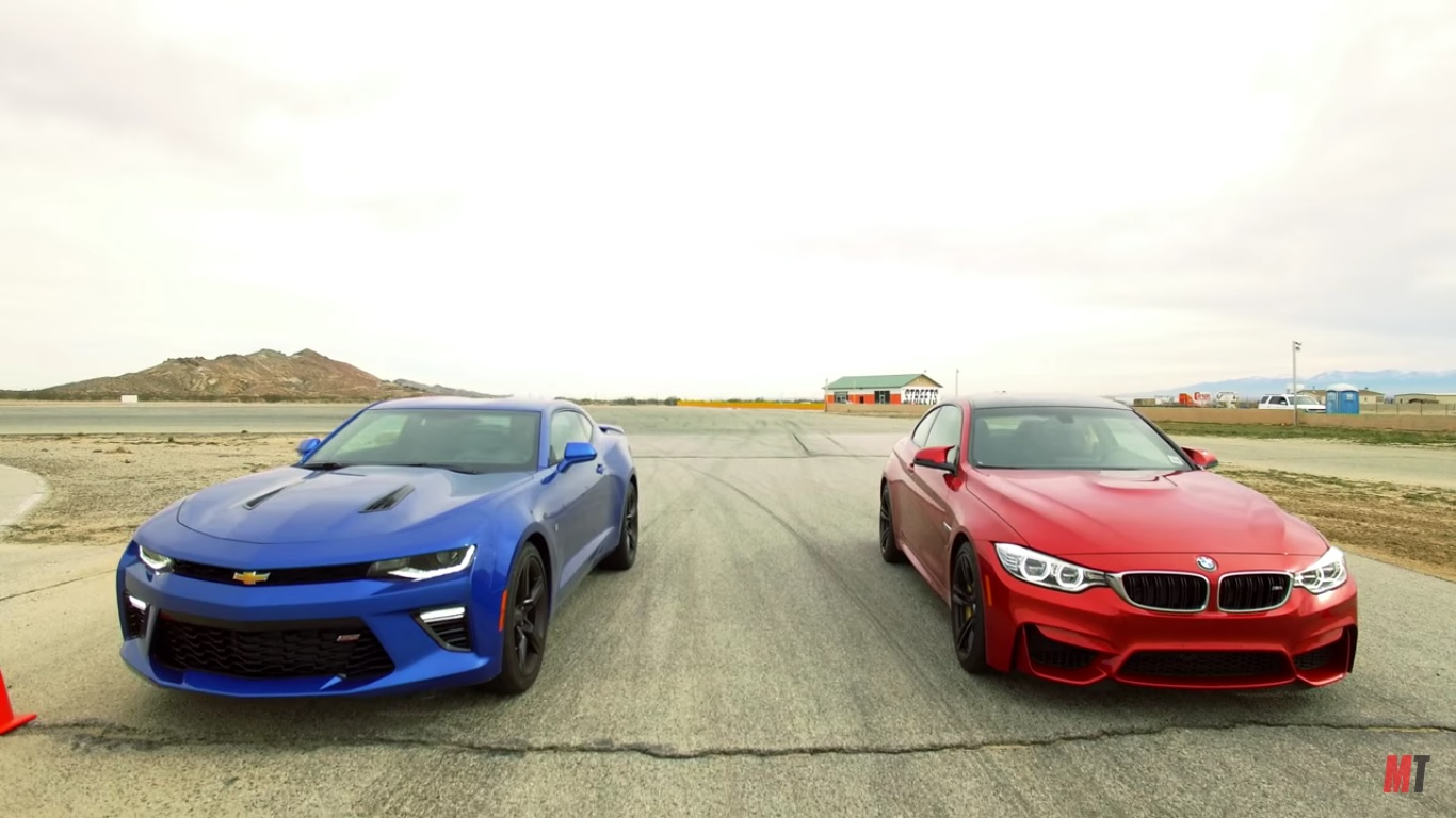 motor trend measures the bmw m4 against the chevrolet. Black Bedroom Furniture Sets. Home Design Ideas
