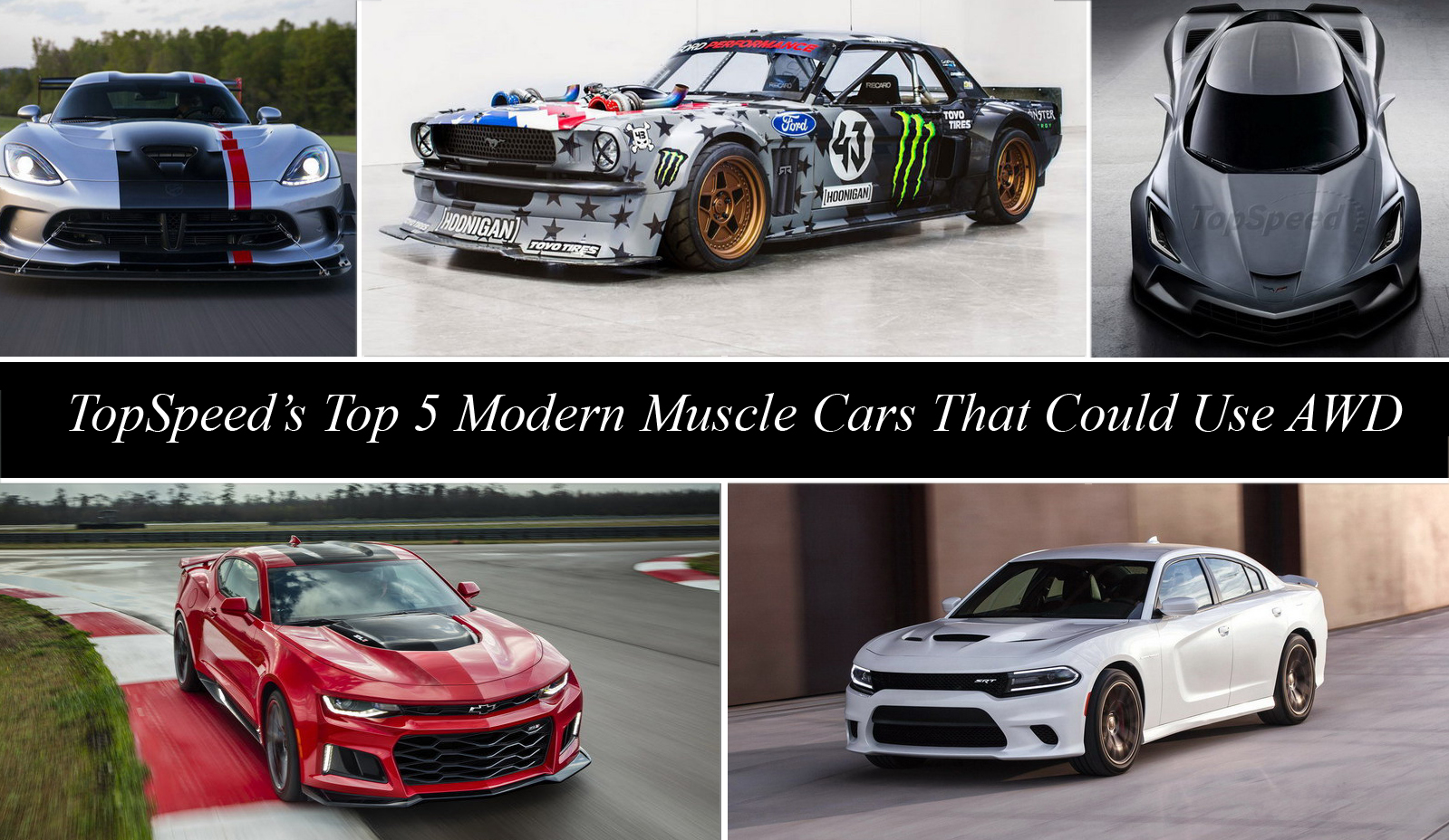 TopSpeed\'s Top 5 Modern Muscle Cars That Could Use All-Wheel Drive ...