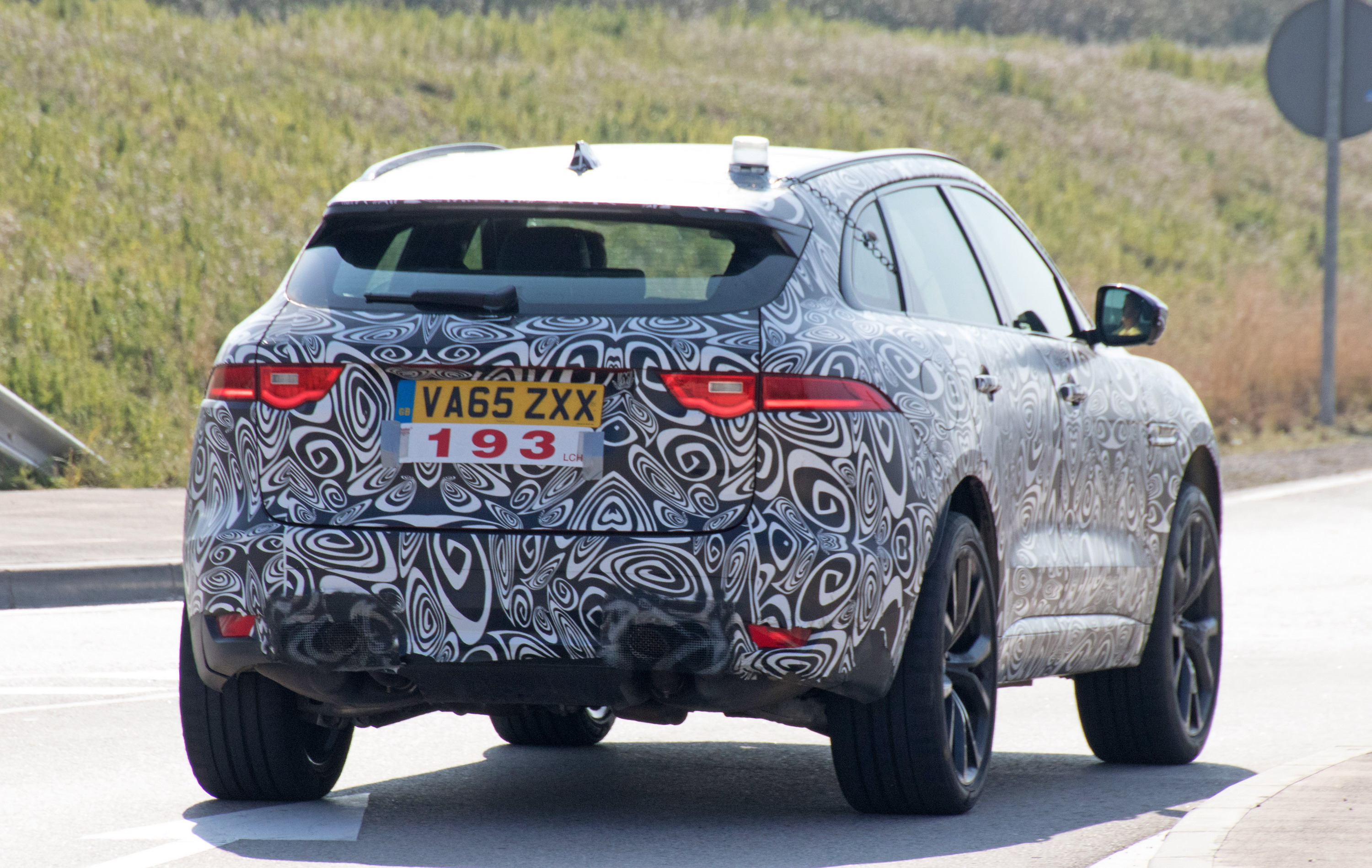 by loop location mocks f last fpace unveiling gravity new suv during pulling year s show strength defying at jag driving pace despite frankfurt jaguar off motor exhibits its into rogue image portfolio stopping death stunt degree a