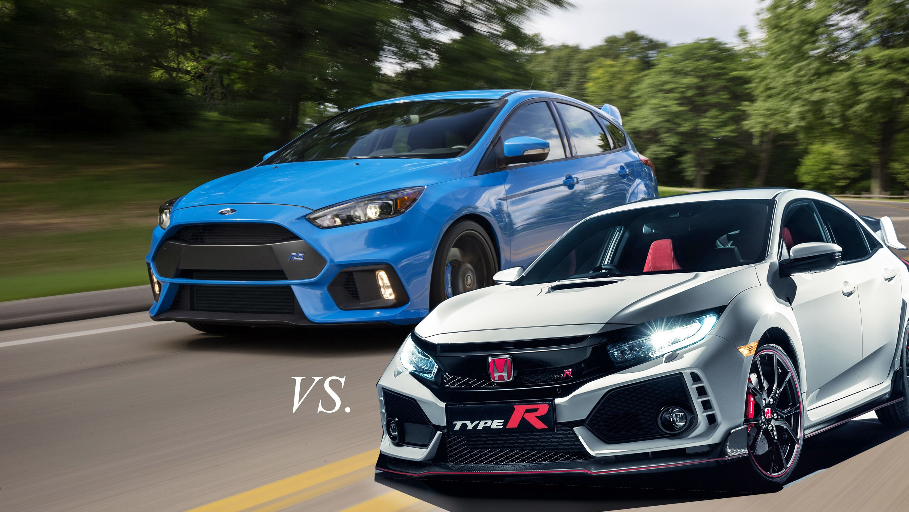 Hot Hatch Shakedown Honda Civic Type R Vs Ford Focus Rs Top Speed