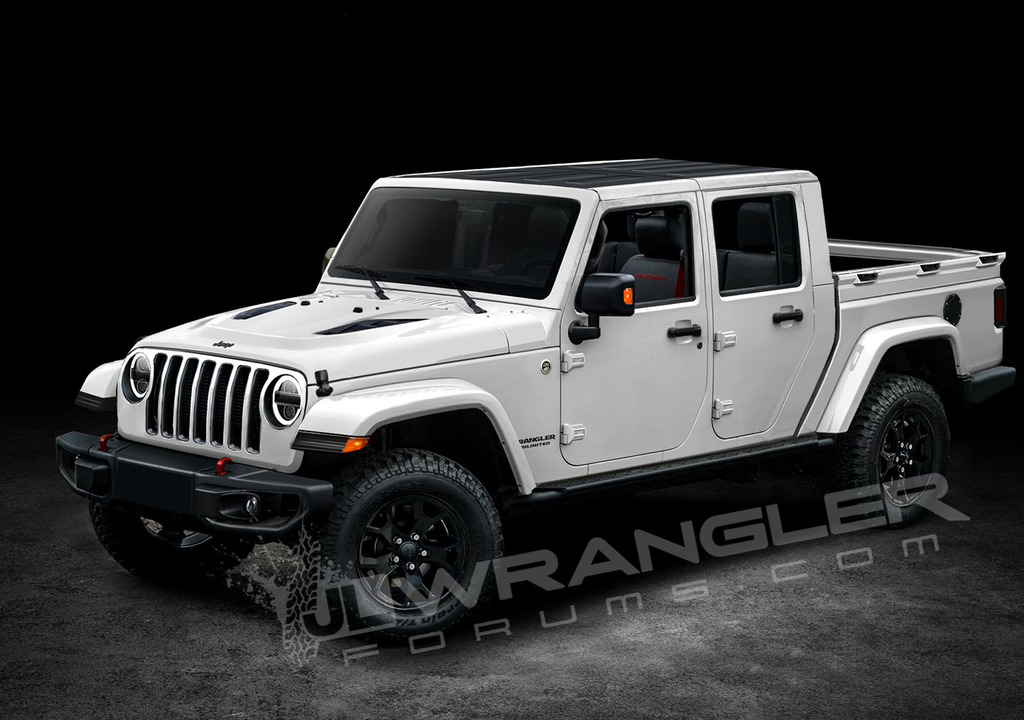 2019 Jeep Wrangler Jt Pickup Rendered Using Inside Information Top
