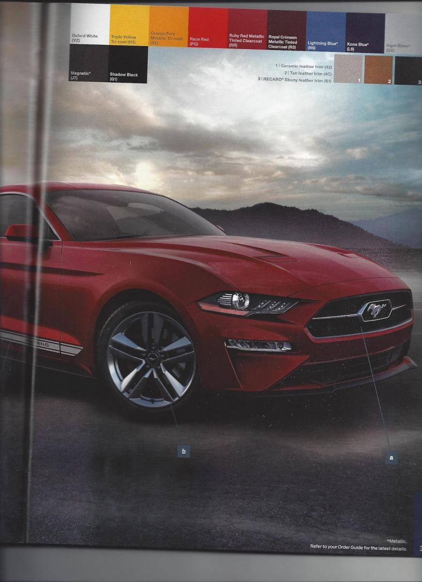 2018 ford mustang order guide leaked top speed