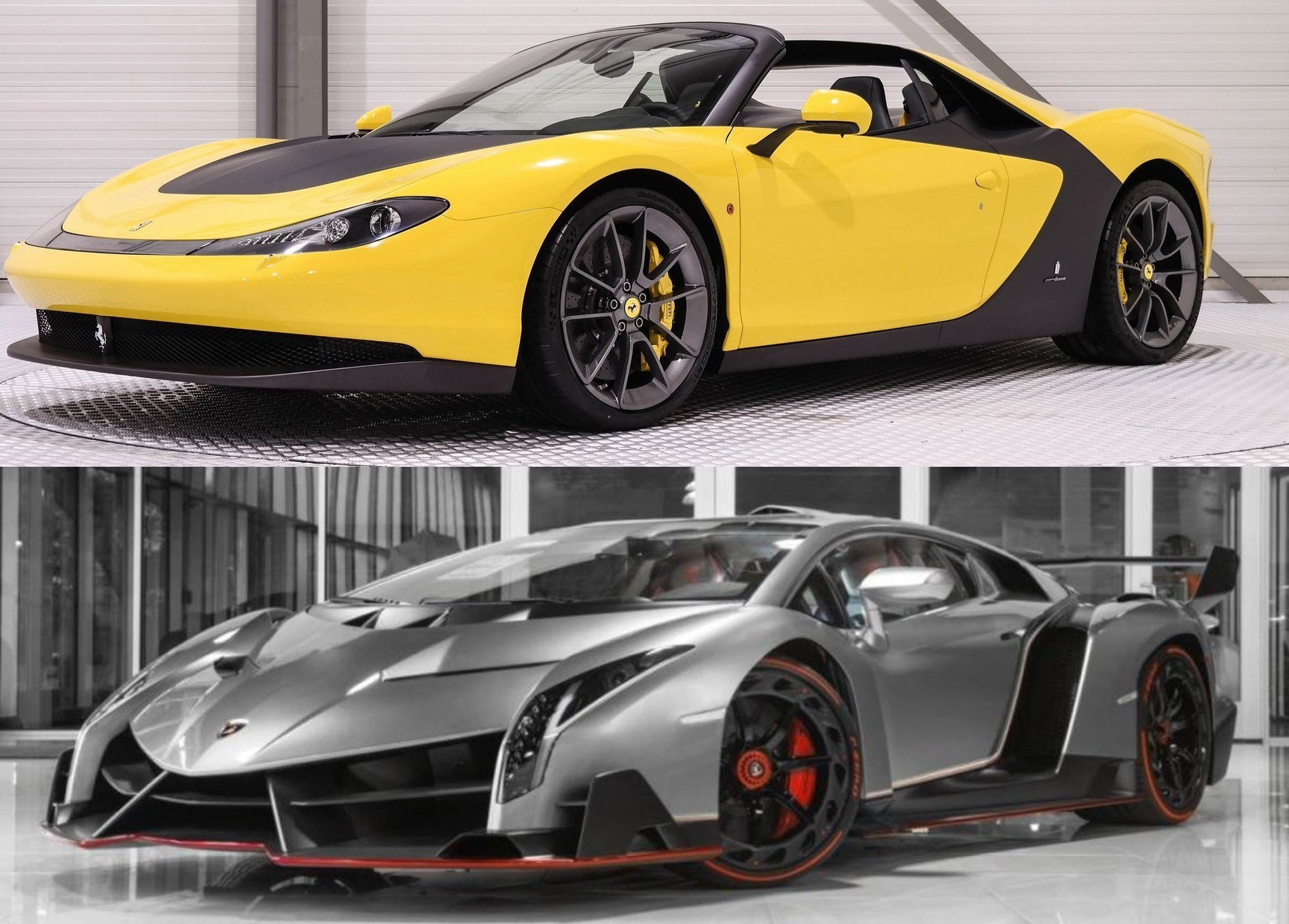 Lamborghini Veneno Vs Ferrari Sergio, The Answer To Supercar Boredom ...
