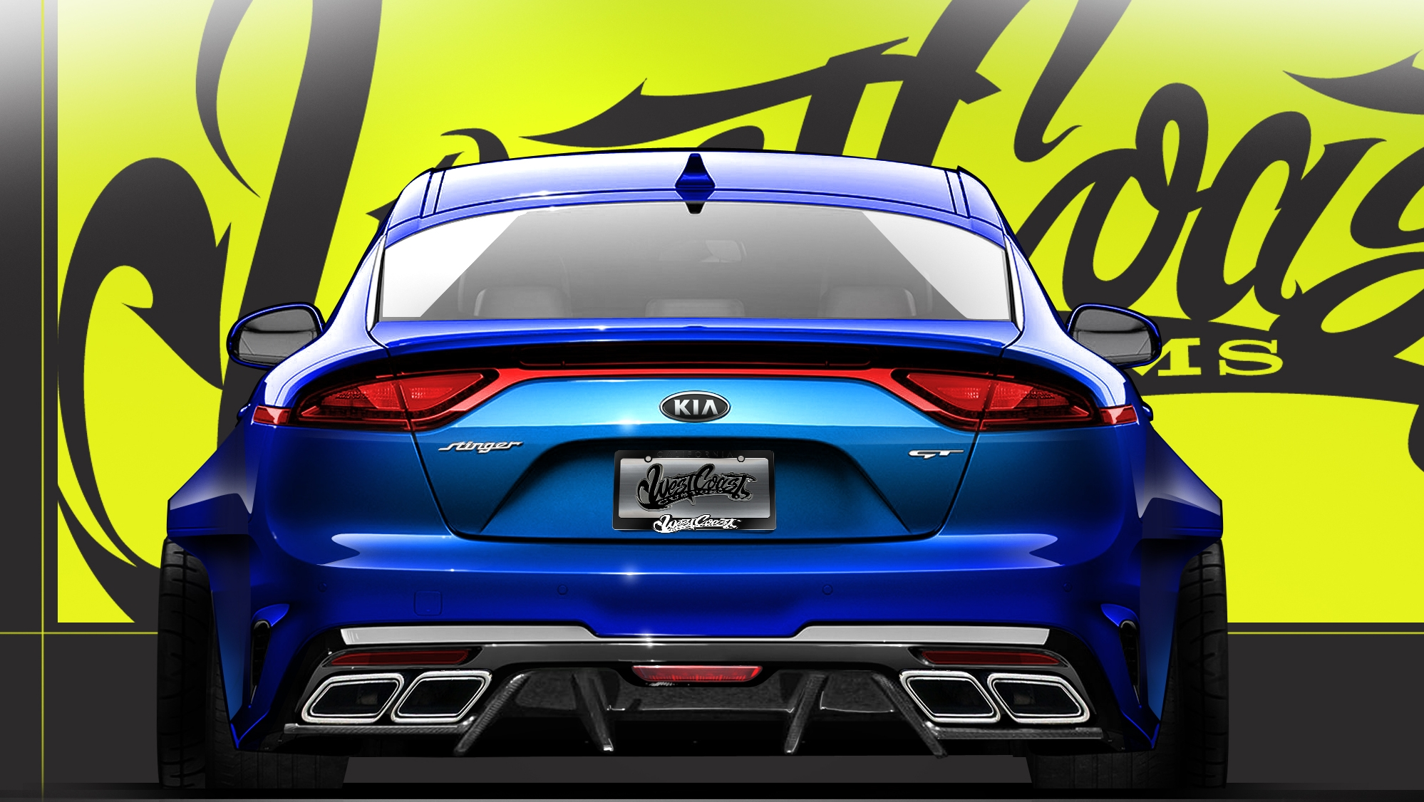 The Kia Stinger Gets Baptized For SEMA Pictures, Photos ...