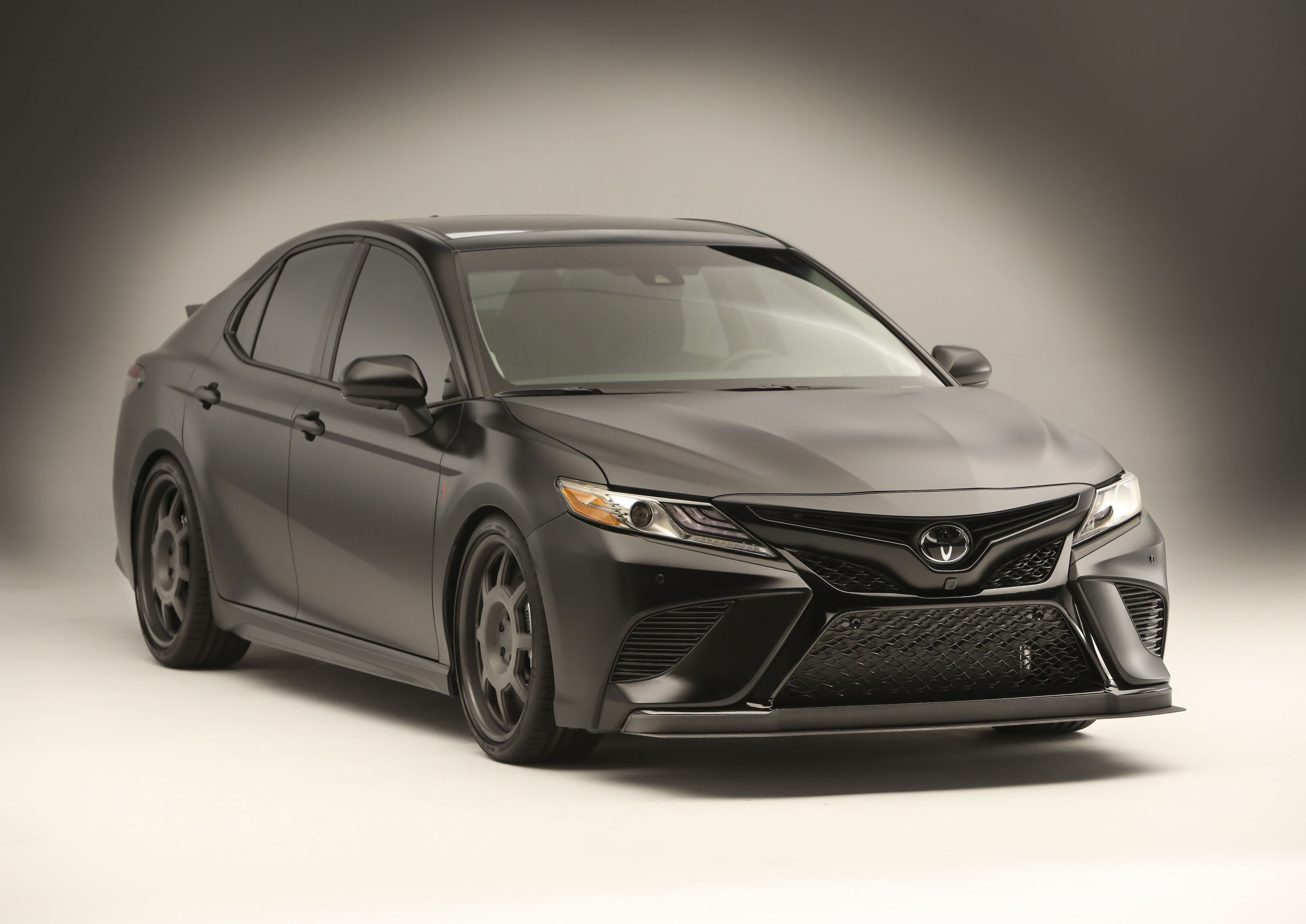 Black Toyota Camry >> Nascar Champ Truex Jr Designs All Black Toyota Camry For Sema Top