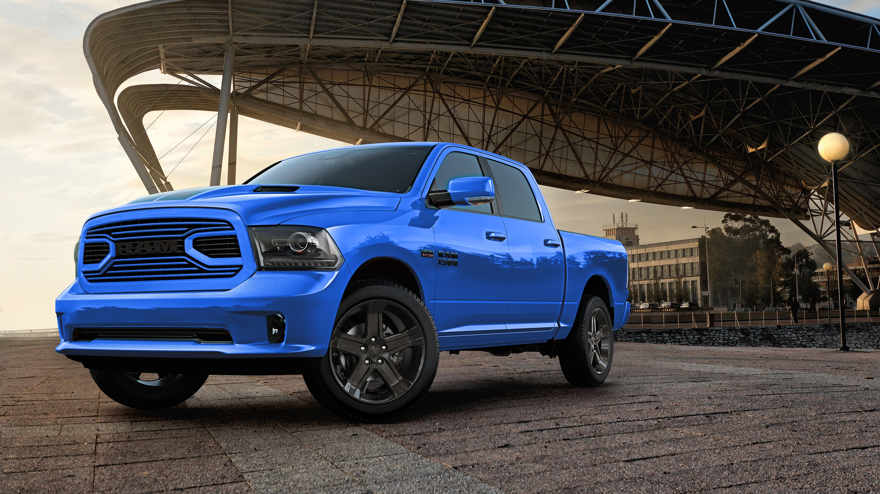 2018 Ram 1500 Hydro Blue Sport Pictures Photos
