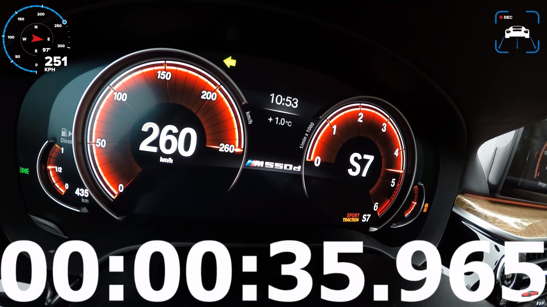 Watch The Bmw M550d Bounce Off The Speed Limiter Top Speed