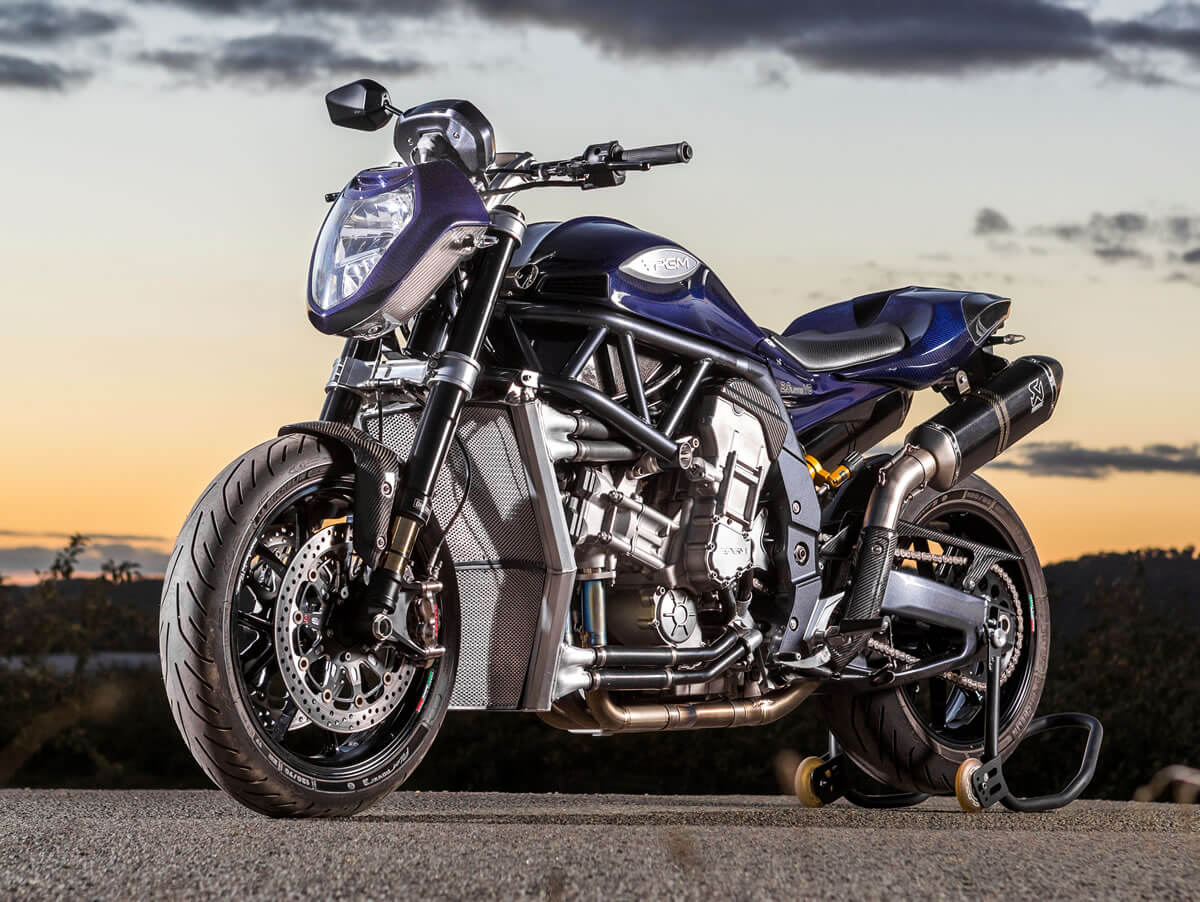 The Most Powerful Production Motorcycle: PGM 2.0 Liter V8 | Top Speed
