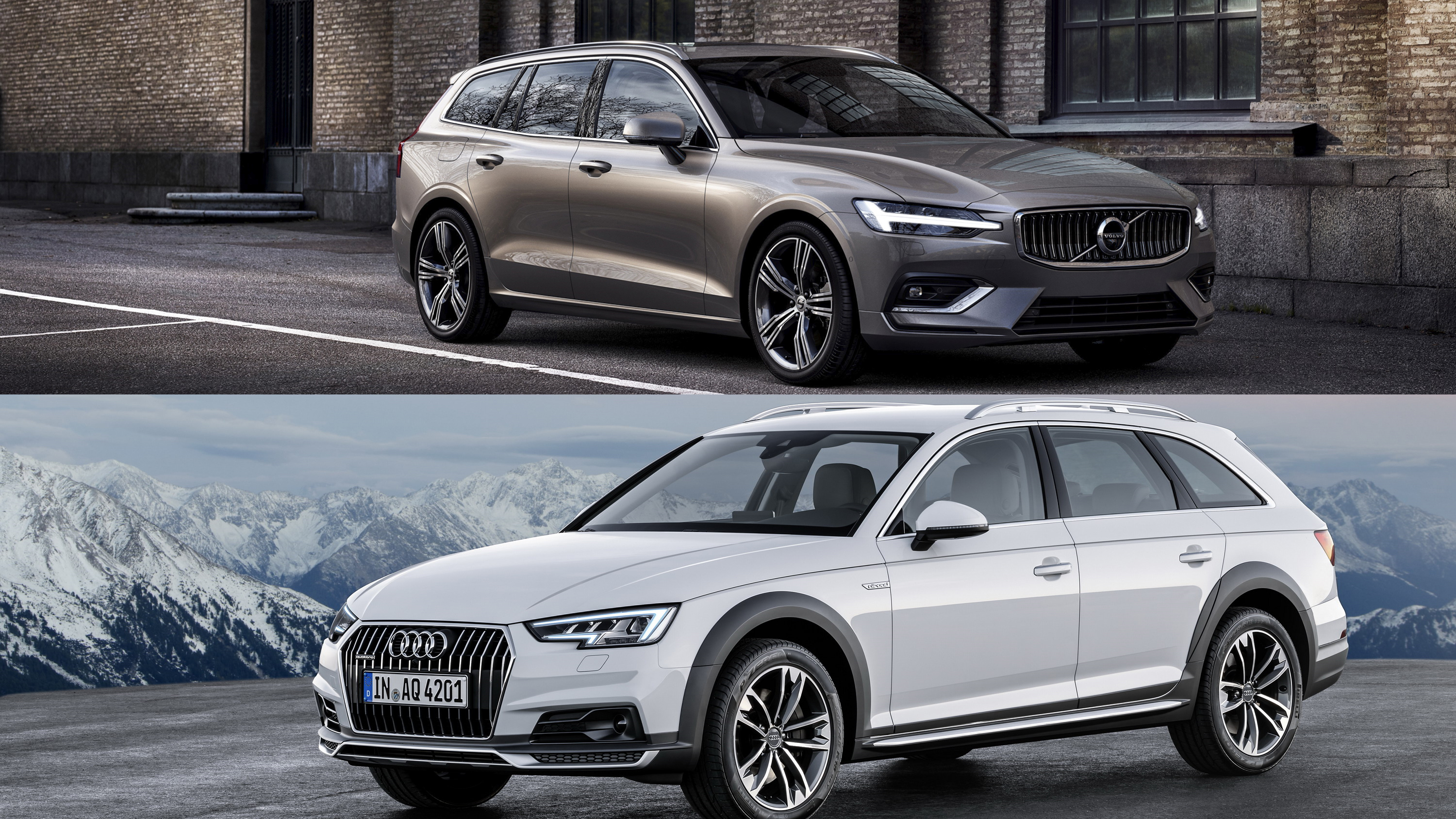 2019 volvo v60 vs 2018 audi a4 allroad a visual. Black Bedroom Furniture Sets. Home Design Ideas