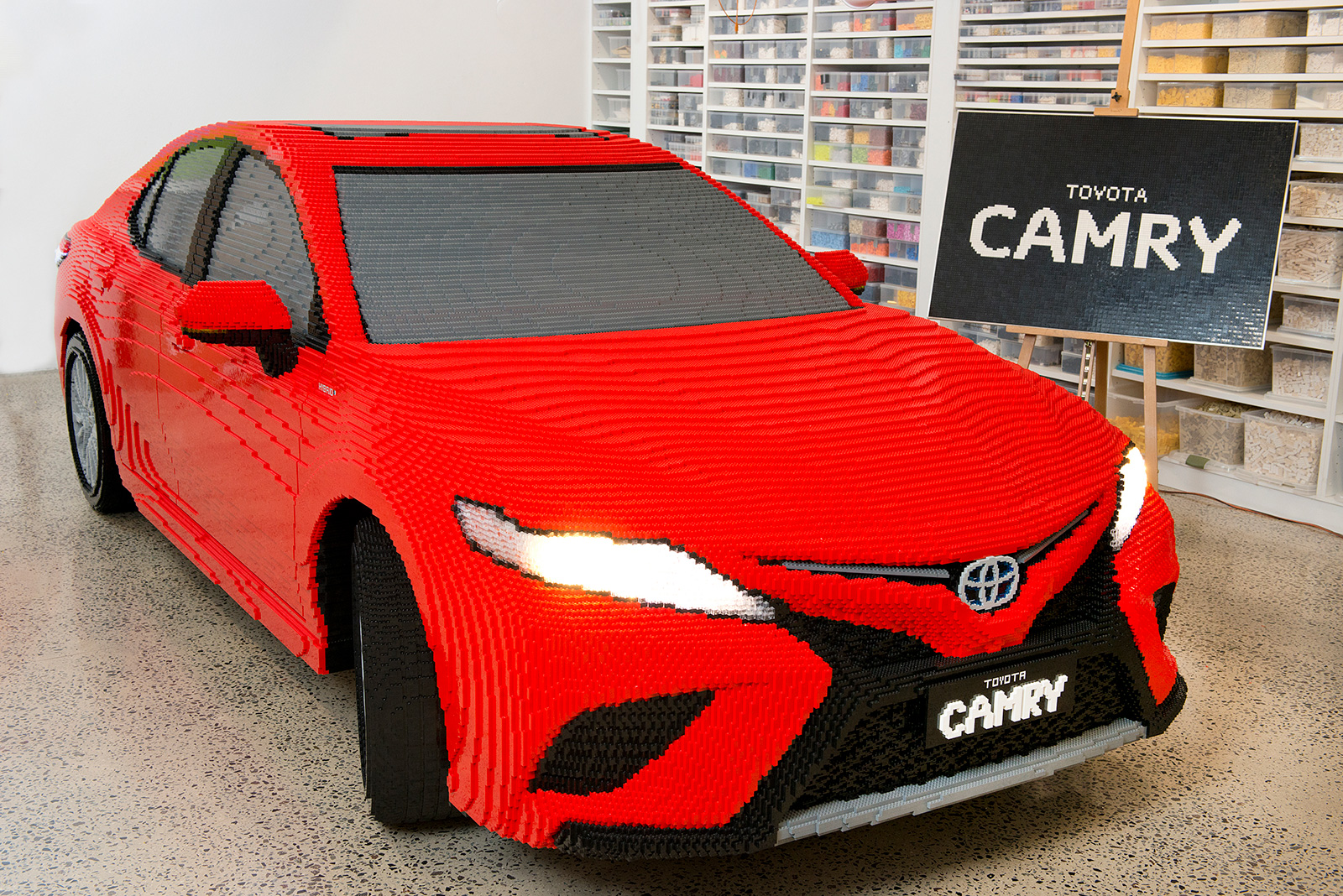 Lego Builds A Life-Size Toyota Camry Out Of Plastic Bricks And It's