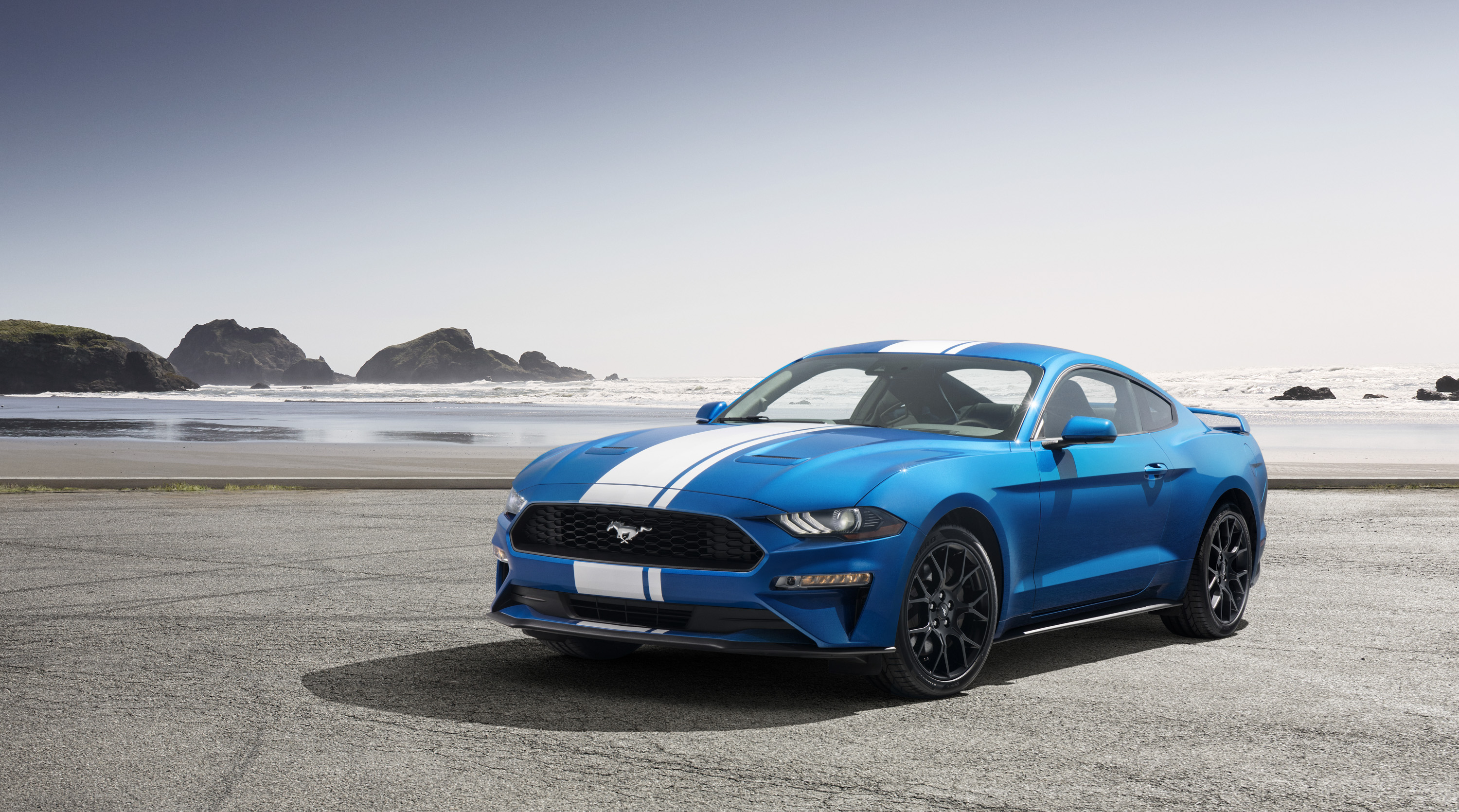 The ford mustang ecoboost sounds as mean as the shelby gt350 with the active exhaust system