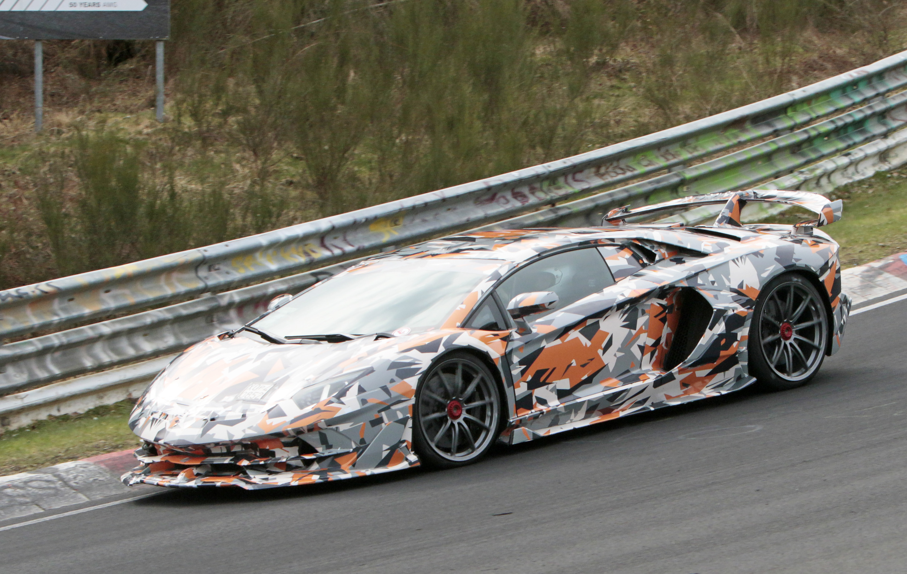 Lamborghini Aventador Sv Jota Spotted On The Nurburgring Is