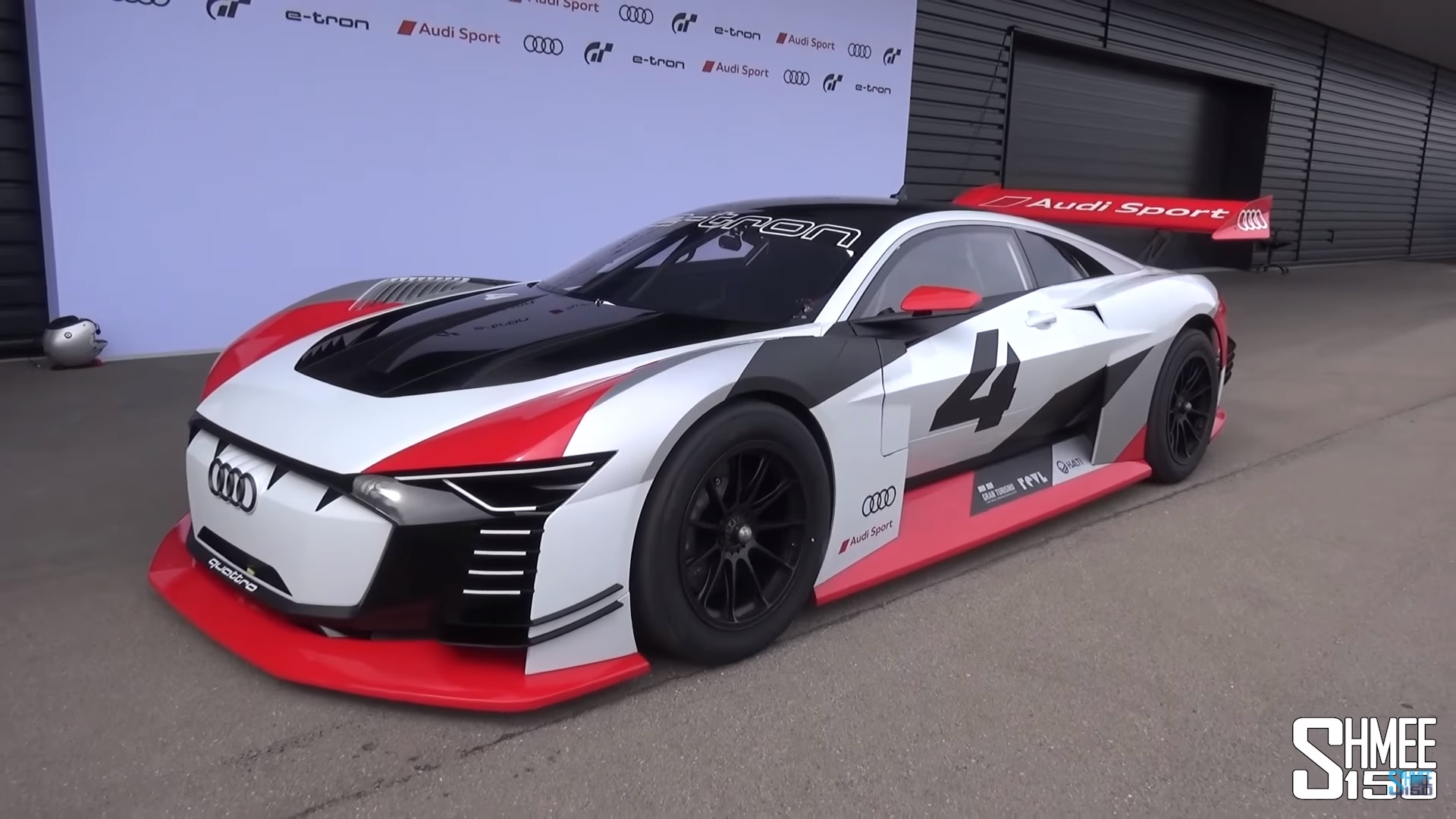 video of the day shmee drives the audi e tron vision gran turismo top speed. Black Bedroom Furniture Sets. Home Design Ideas