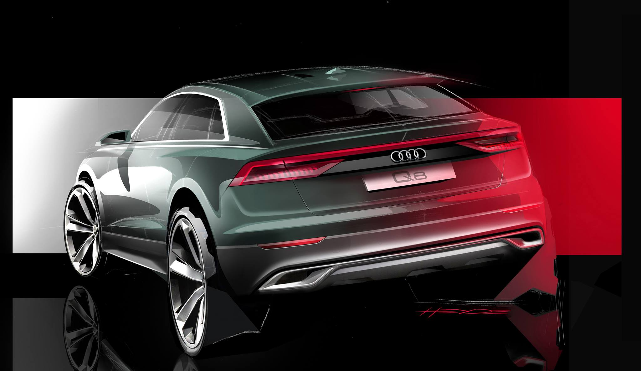 Audi Q8 Concept: Specs, Production Version >> Audi Teases The Q8 With New Rendering And Video Series