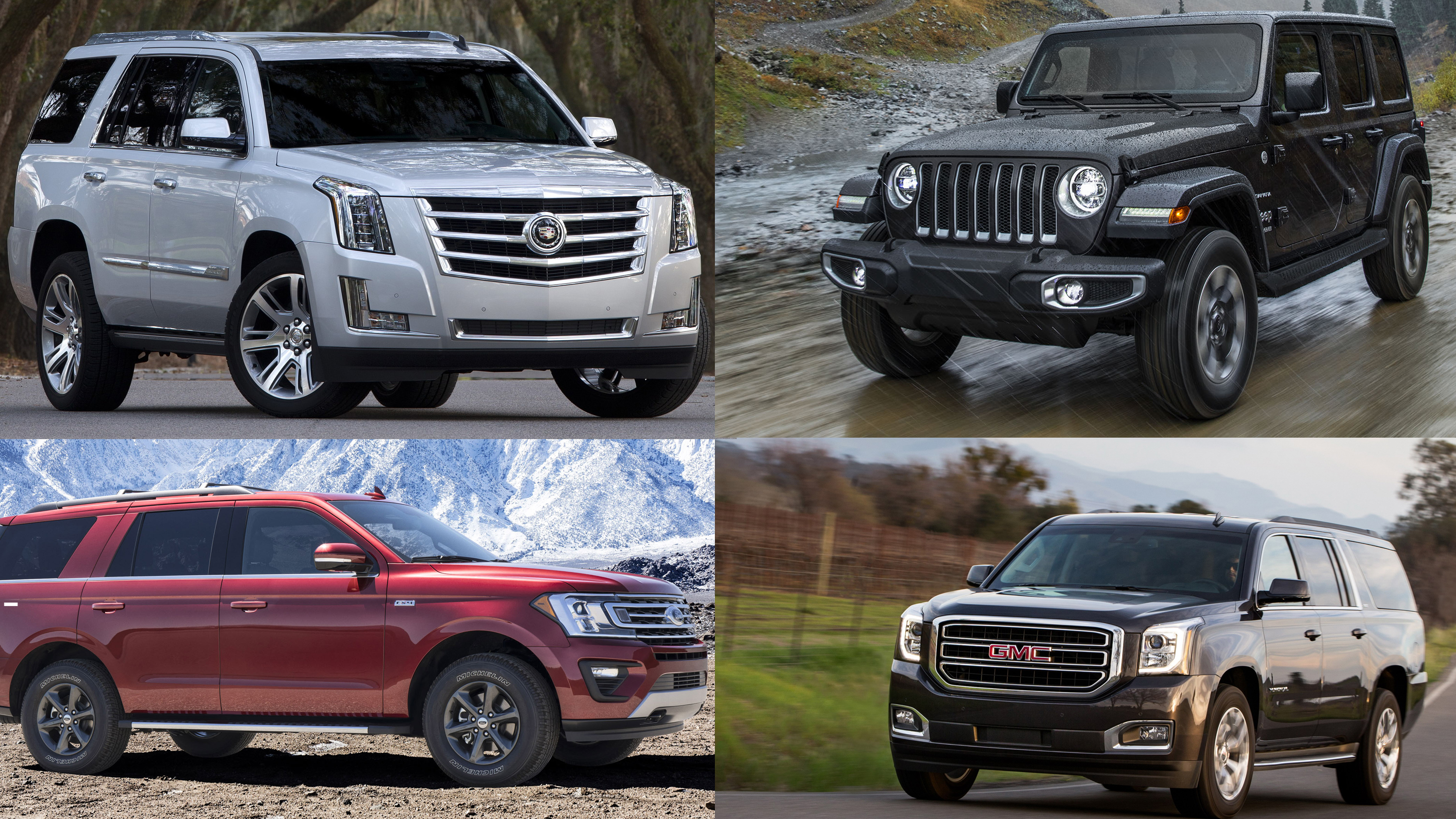 6 american suvs that still feature body on frame construction top speed. Black Bedroom Furniture Sets. Home Design Ideas