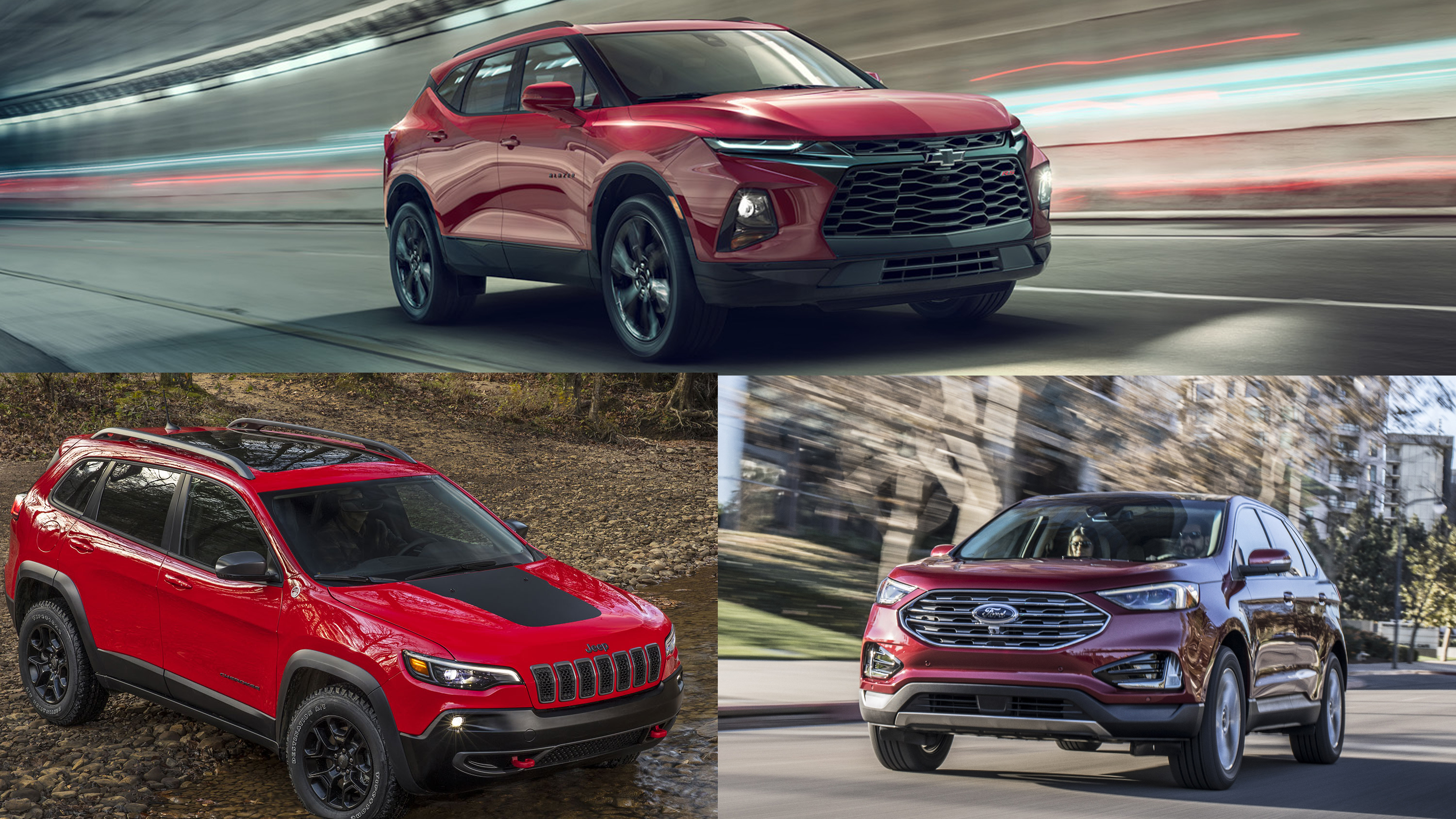 Comparing The Chevy Blazer The Ford Edge And The Jeep Cherokee Top Speed