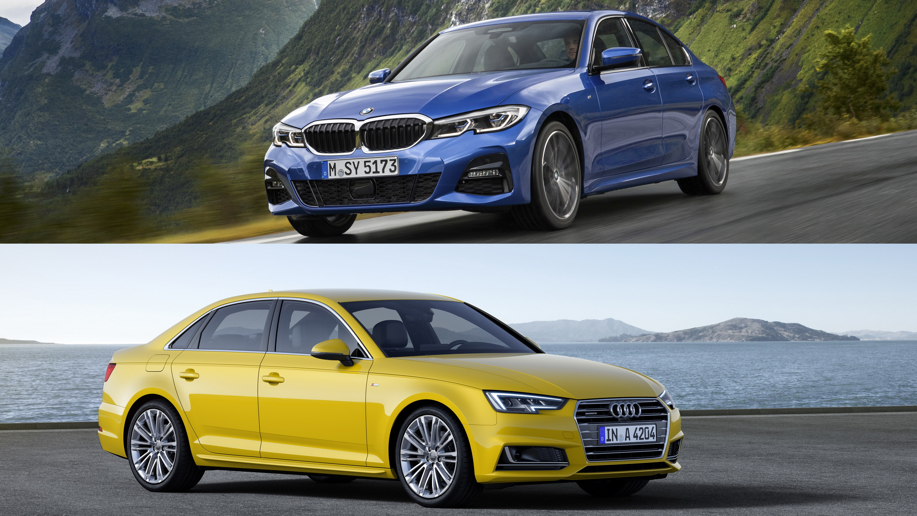 2019 Bmw 3 Series Vs 2019 Audi A4 Pictures Photos Wallpapers