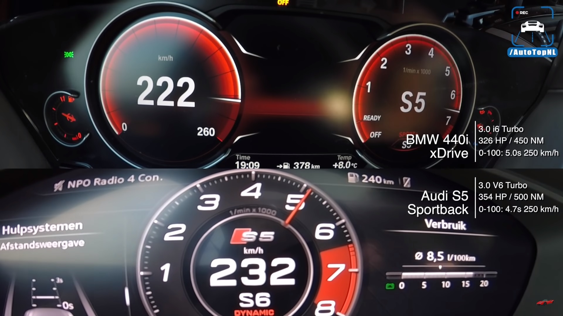Check Out This Cool Acceleration Test Between A BMW 440i Gran Coupe