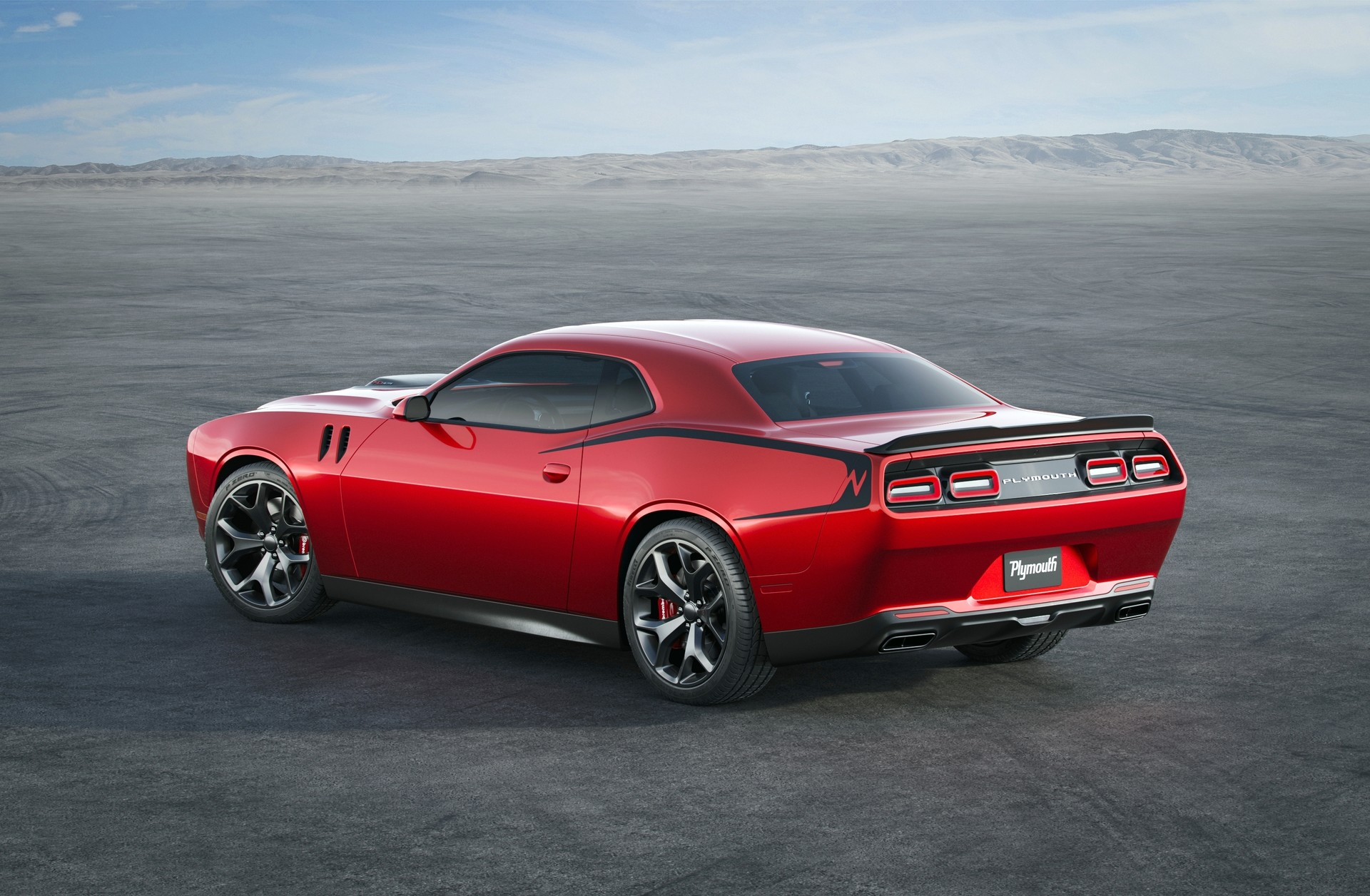 Check Out This Modern Plymouth Barracuda Rendering Based On The