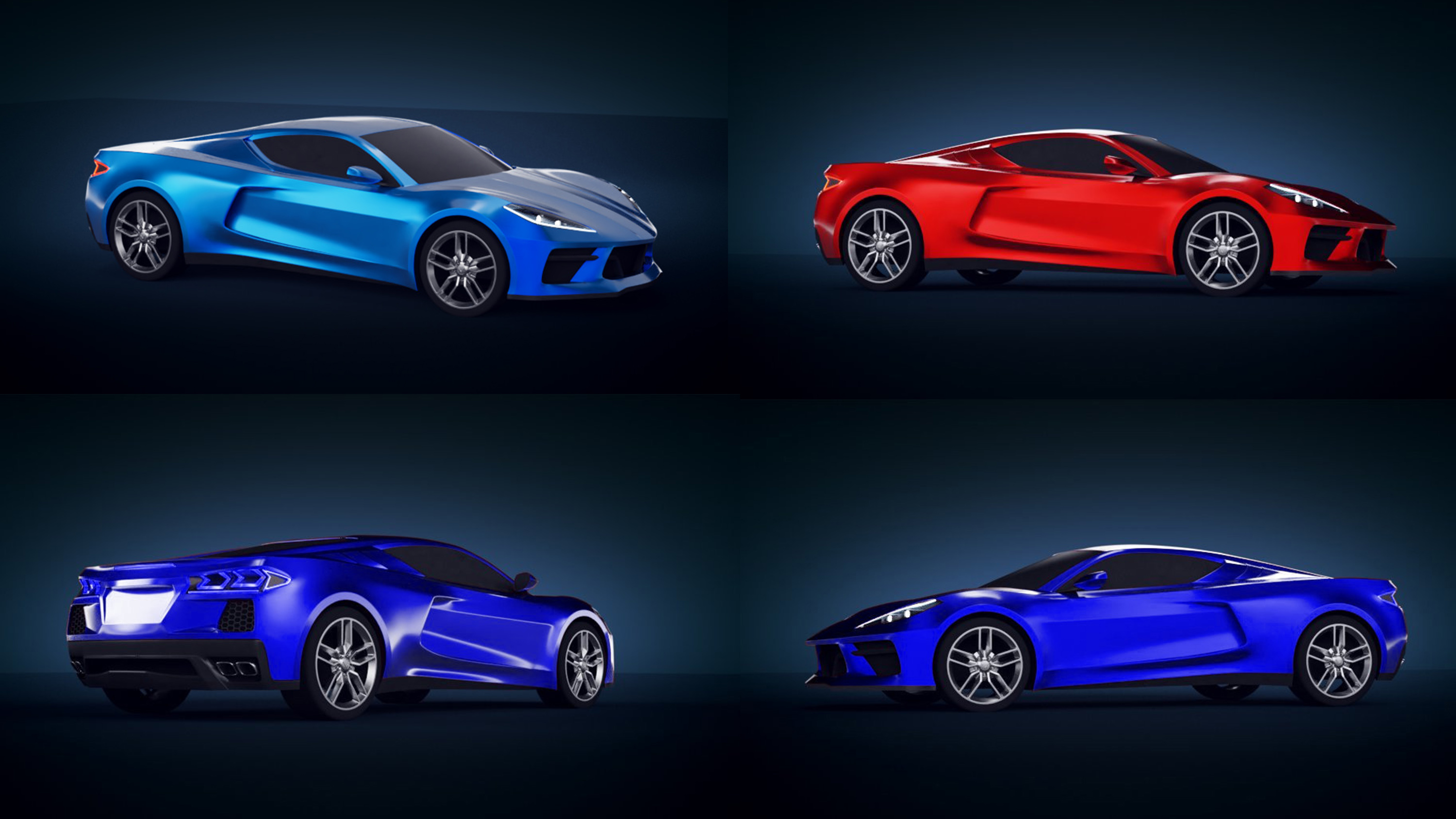 Latest Renderings Of The Mid Engined C8 Chevy Corvette